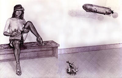 High Heels Art Drawing - Useful Household Objects #4 The Radio-controlled Airship. by Richard Pike