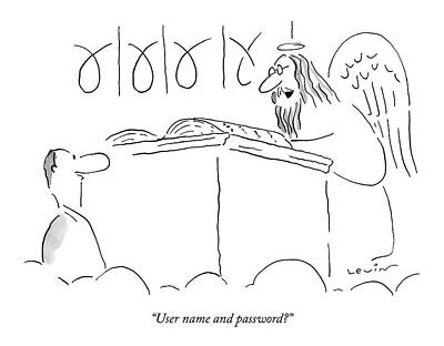 Saint Drawing - User Name And Password? by Arnie Levin