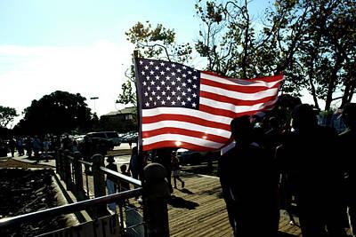 U.s.flag Art Print by Terry Thomas