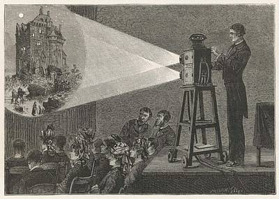 Optical Illusion Drawing - Using A Double Lantern, Which  Makes by Mary Evans Picture Library