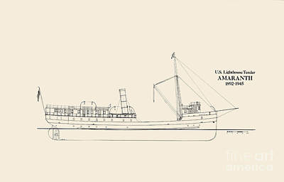 Uscg Drawing - Uslht Amaranth by Jerry McElroy - Public Domain Image