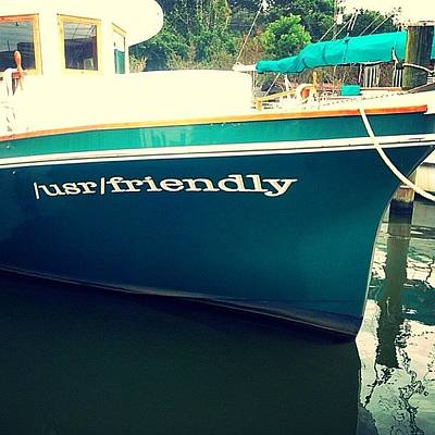 Boat Photograph - Usr Friendly by Scott Pellegrin