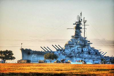 Digital Art - Uss Alabama by Michael Thomas