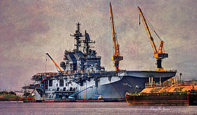 Photograph - Uss America-lha 6 by Barry Jones