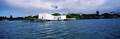 American National Flag Photograph - Uss Arizona Memorial, Pearl Harbor by Panoramic Images