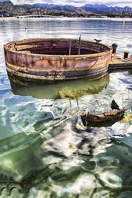 Fallen Soldier Photograph - Uss Arizona Memorial- Pearl Harbor V7 by Douglas Barnard