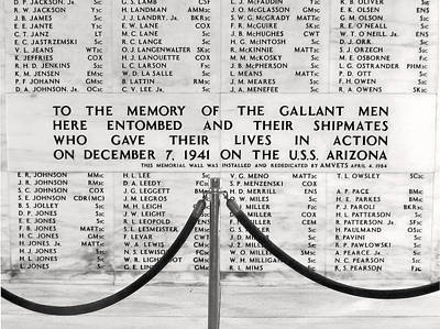 U.s.s. Arizona Pearl Harbor Memorial Art Print
