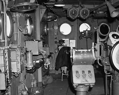 Carousel House Photograph - Uss Bunker Hill: Interior by Granger
