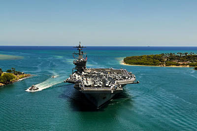 Uss Carl Vinson Art Print by Mountain Dreams