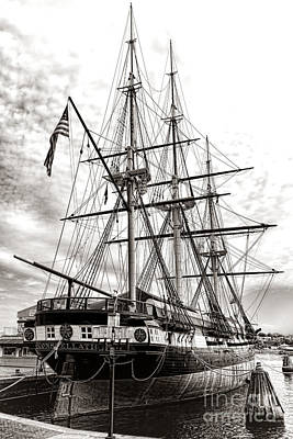 Baltimore Inner Harbor Photograph - Uss Constellation by Olivier Le Queinec