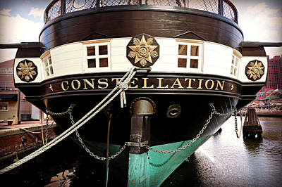 Mchenry Photograph - Uss Constellation by Stephen Stookey