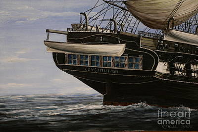 Uss Constitution Painting - Uss Constitution 1865 by Richard John Holden RA