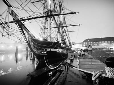 Black And White Photograph - Uss Constitution by Alexander Voss