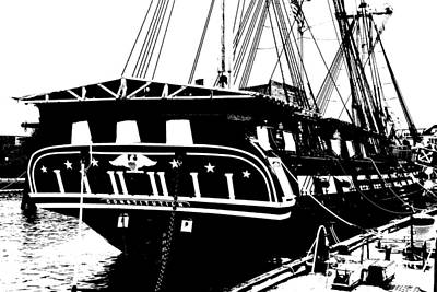 Uss Constitution Art Print by Charlie and Norma Brock