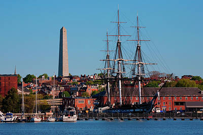 Uss Constitution Photograph - Uss Constitution Historic Ship, Old by Panoramic Images