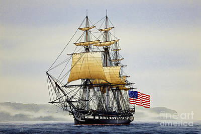 Mast Painting - Uss Constitution by James Williamson