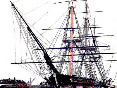Photograph - U.s.s. Constitution Old Ironsides Rigging by Merton Allen