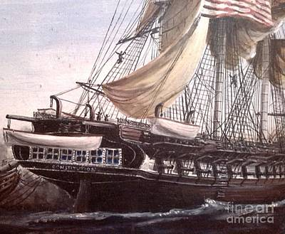 Uss Constitution Painting - Uss Constitution by Richard John Holden RA