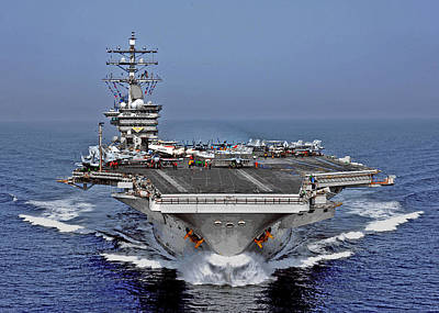 Photograph - Uss Dwight D. Eisenhower by Herb Paynter