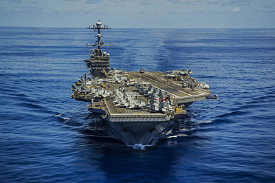 Photograph - Uss George Washington by Specialist 1st Class Trevor Welsh