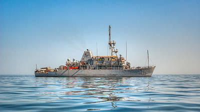 Photograph - Uss Gladiator Mcm 11 Mine Countermeasures Ship by Joshua McDonough