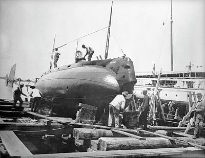 Caldwell Photograph - Uss Holland Submarine by Us National Archives