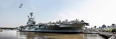 Uss Intrepid Sea-air-space Museum In New York City.  Art Print by Nishanth Gopinathan