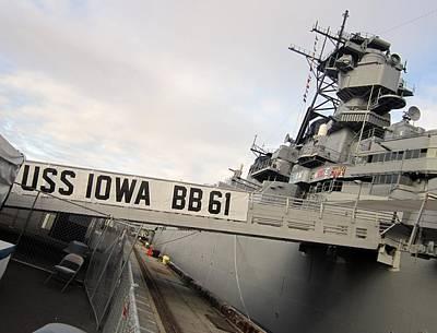 Ships Photograph - Uss Iowa 4 by Dan Twyman