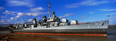 Baton Rouge Photograph - Uss Kidd Navy Ship At A Memorial, Uss by Panoramic Images