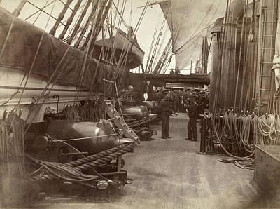 Photograph - Uss Mohican Gun Deck, 1885 by Granger