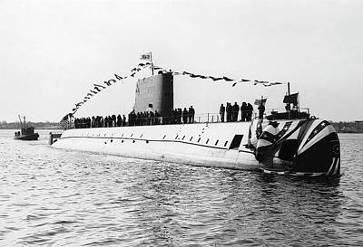 First Launch Photograph - Uss Nautilus Submarine Launch by Us Navy