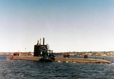 Acoustical Photograph - Uss Nautilus Submarine by Us Navy