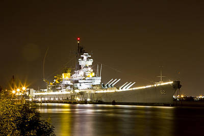 Photograph - Uss New Jersey by Paul Watkins