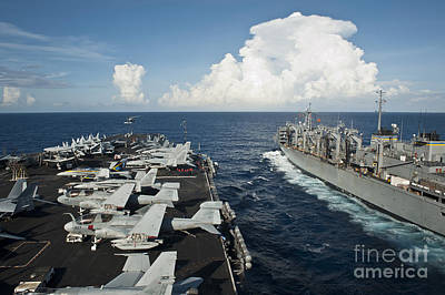 Transportation Royalty-Free and Rights-Managed Images - Uss Nimitz And Usns Rainer Transit by Stocktrek Images