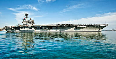 Uss Ronald Reagan Art Print by Mountain Dreams