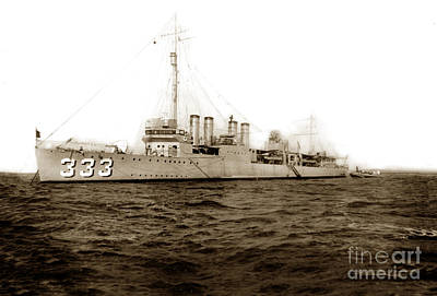 Photograph - U S S Sumner Dd-333 Uss Navy Destroyer  Circa 1920 by California Views Archives Mr Pat Hathaway Archives