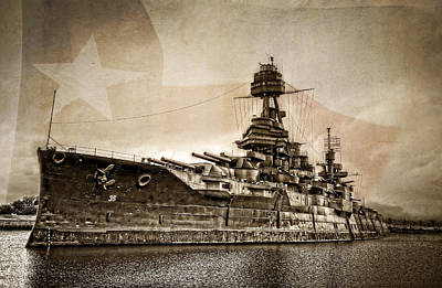 Battleship Photograph - U.s.s. Texas by Ken Smith