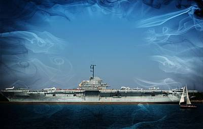 Mixed Media - Uss Yorktown by Bob Pardue