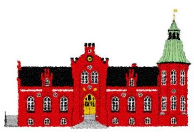 Digital Art - Ussinggaard Manor House_painting by Asbjorn Lonvig
