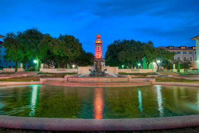 Ut Tower Photograph - Ut Tower '09 by Preston Broadfoot