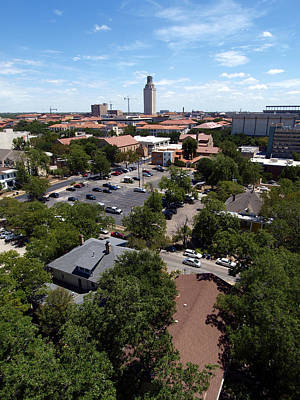 Photograph - Ut Tower 2009 And Campus Area by James Granberry