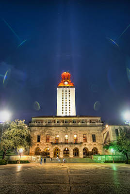 Ut Tower Regular Season Win Art Print by Preston Broadfoot
