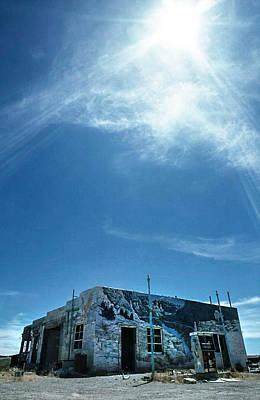 Gaz Photograph - Utah Abandoned Gaz  Station by Kim Lessel