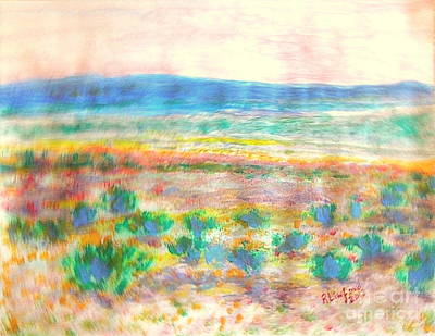 Summit County Painting - Utah Daggett County Near Manilla Utah 1 by Richard W Linford