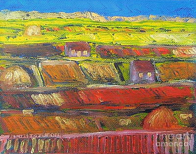 Painting - Utah Farm Country by Richard W Linford