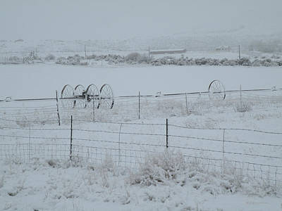 Photograph - Utah Farm Field Under Snow by Becky Erickson