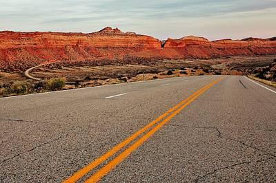 Utah Highway Art Print by Benjamin Yeager