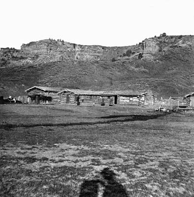 Photograph - Utah Log Cabins, C1869 by Granger