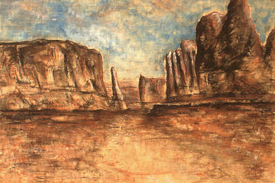 Painting - Utah Red Rocks - Landscape Art Painting by Peter Potter