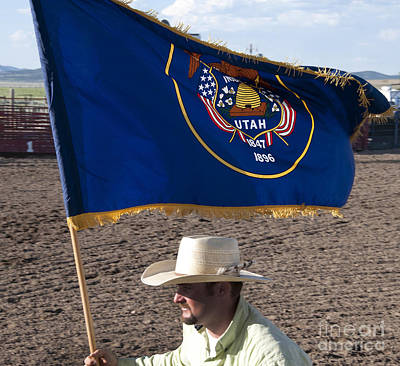 Photograph - Carrying The Utah Flag by Brenda Kean